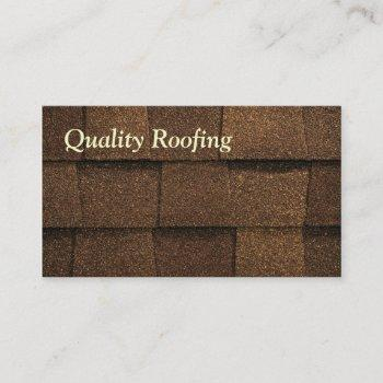 roofing shingle business card
