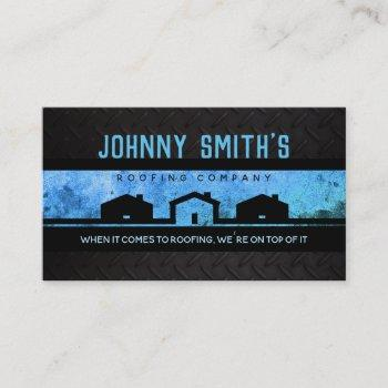 roofing slogans business cards