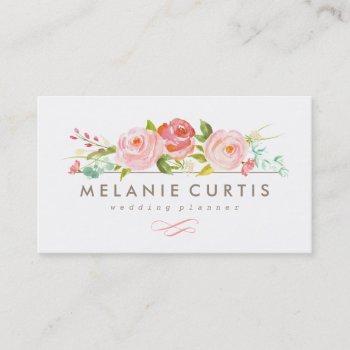 rose garden floral business card