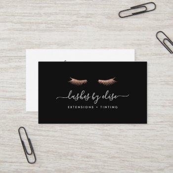 rose gold lashes business card