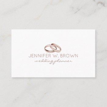 rose gold wedding ring jewelry business card