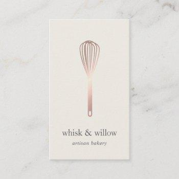 rose gold whisk | bakery | chef | caterer business card