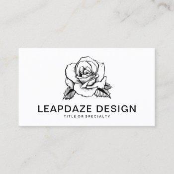 rose tattoo business card