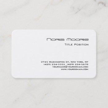 round corner black white professional business card