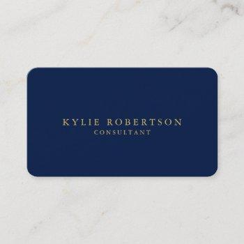 round corner blue gold professional trendy business card