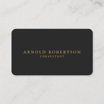 round corner gray gold professional business card
