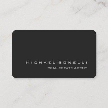 round corner gray real estate agent business card