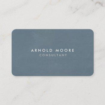 rounded corner blue grey professional modern business card