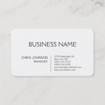 rounded corner contemporary manager business card