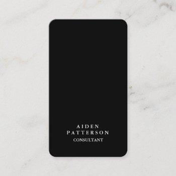 rounded corner creative black modern elegant business card