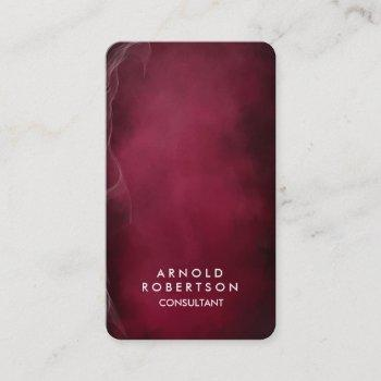 rounded corner dark carmine red elegant business card
