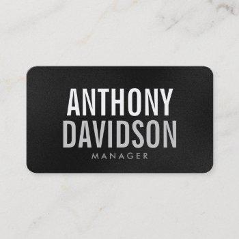 rounded corner gray bold text business card