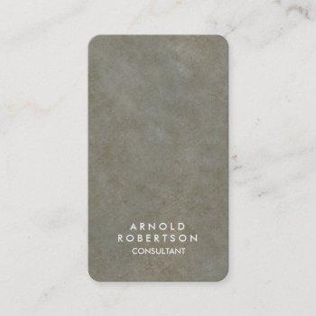 rounded corner grey stone elegant business card