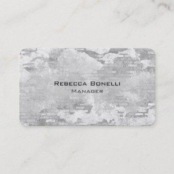 rounded corner stone wall unique business card