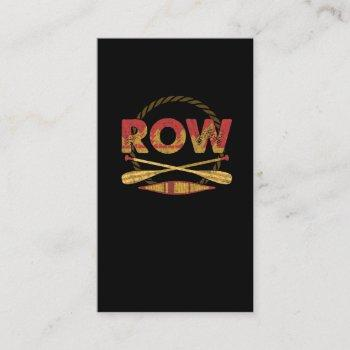 row paddle watersport kayaking lover business card