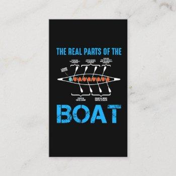rowing boat gift for rower canoe kayak water sport business card