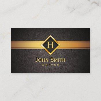 royal monogram gold label driver business card