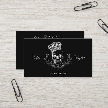 royal skull business card