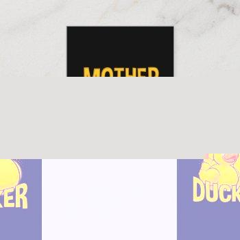 rubber duck rude and sarcasm pun business card