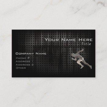 running; cool business card