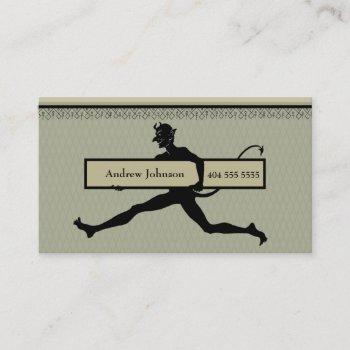 running devil business card