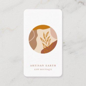 rustic artisan earthy abstract logo business card