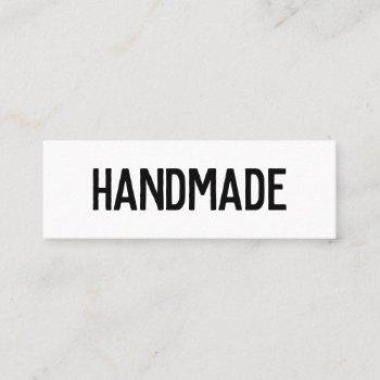 rustic black and white kraft handmade gifts seller mini business card