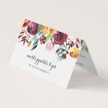 rustic bloom lip product distributor tips & tricks business card