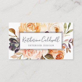 rustic earth florals business card