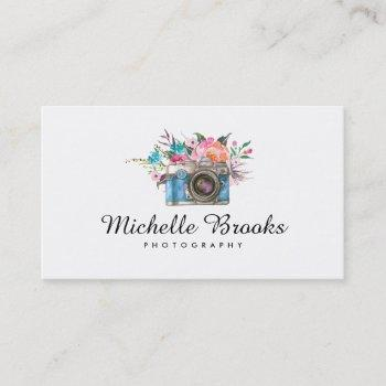 rustic flower wedding photography | business card