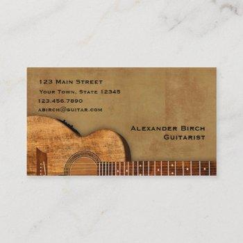 rustic guitar business card