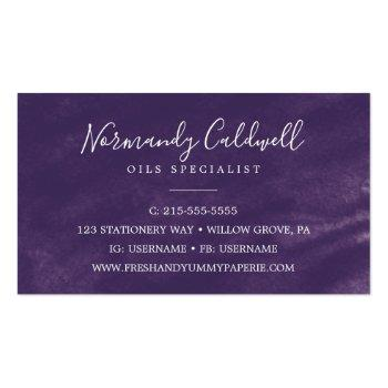 Small Rustic Lavender And Eucalyptus Business Card Back View