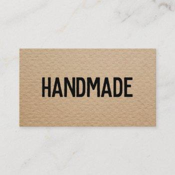 rustic modern brown kraft handmade gifts seller business card