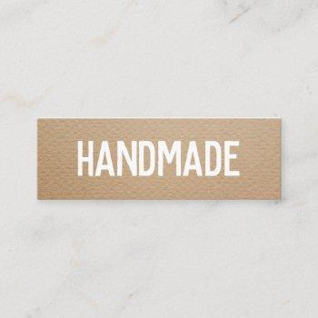 rustic modern brown kraft handmade gifts seller mini business card