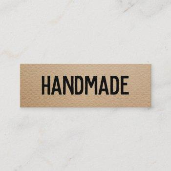 rustic modern brown kraft handmade gifts seller mini business card