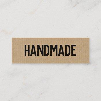 rustic modern cardboard handmade gifts seller mini business card