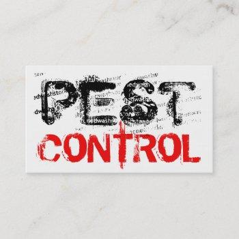 rustic pest control business card