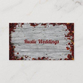 rustic weddings business card