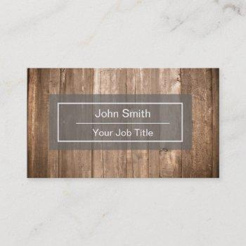 rustic wood background business card