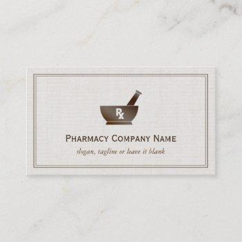 rx symbol pharmacy chemist company - classic linen business card