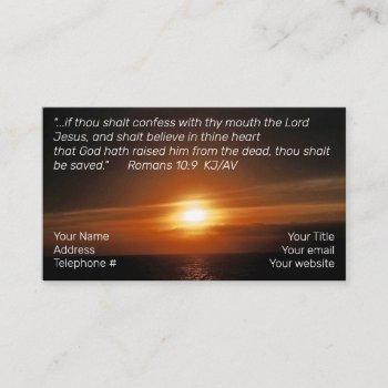 salvation business card
