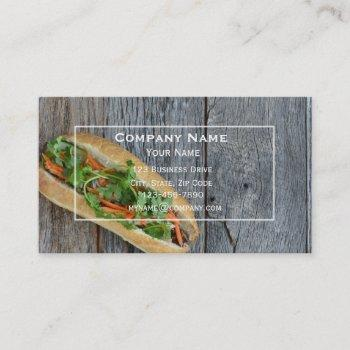sandwich shop business card