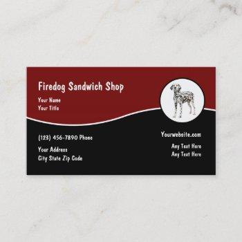 sandwich shop retail business cards
