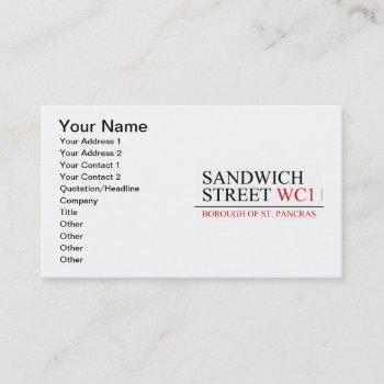 sandwich street business card