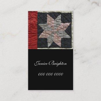 sawtooth star business card