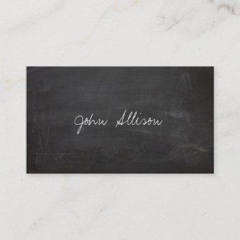 school teacher chalkboard educational business card
