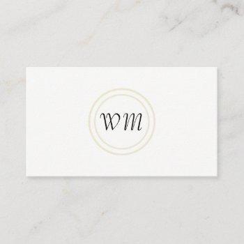 script monogram / corporate rustic business card