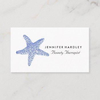 sea blue beach starfish, travel & tourism business card