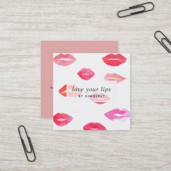 sealed with a kiss | lip product distributor square business card