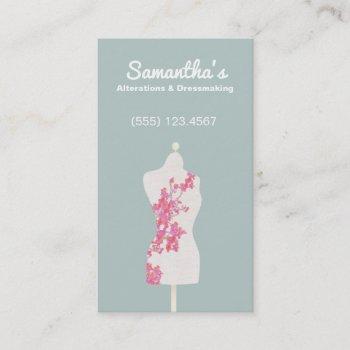 seamstress and dressmaker mannequin business card